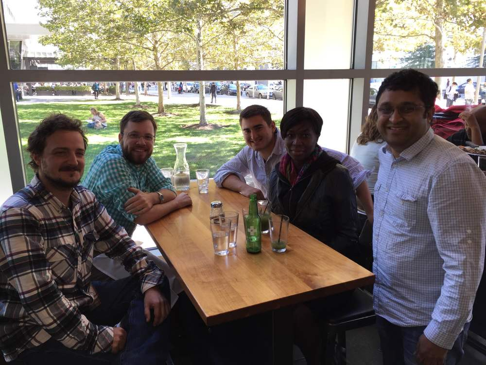 Lunch with the lab to welcome Mathieu!