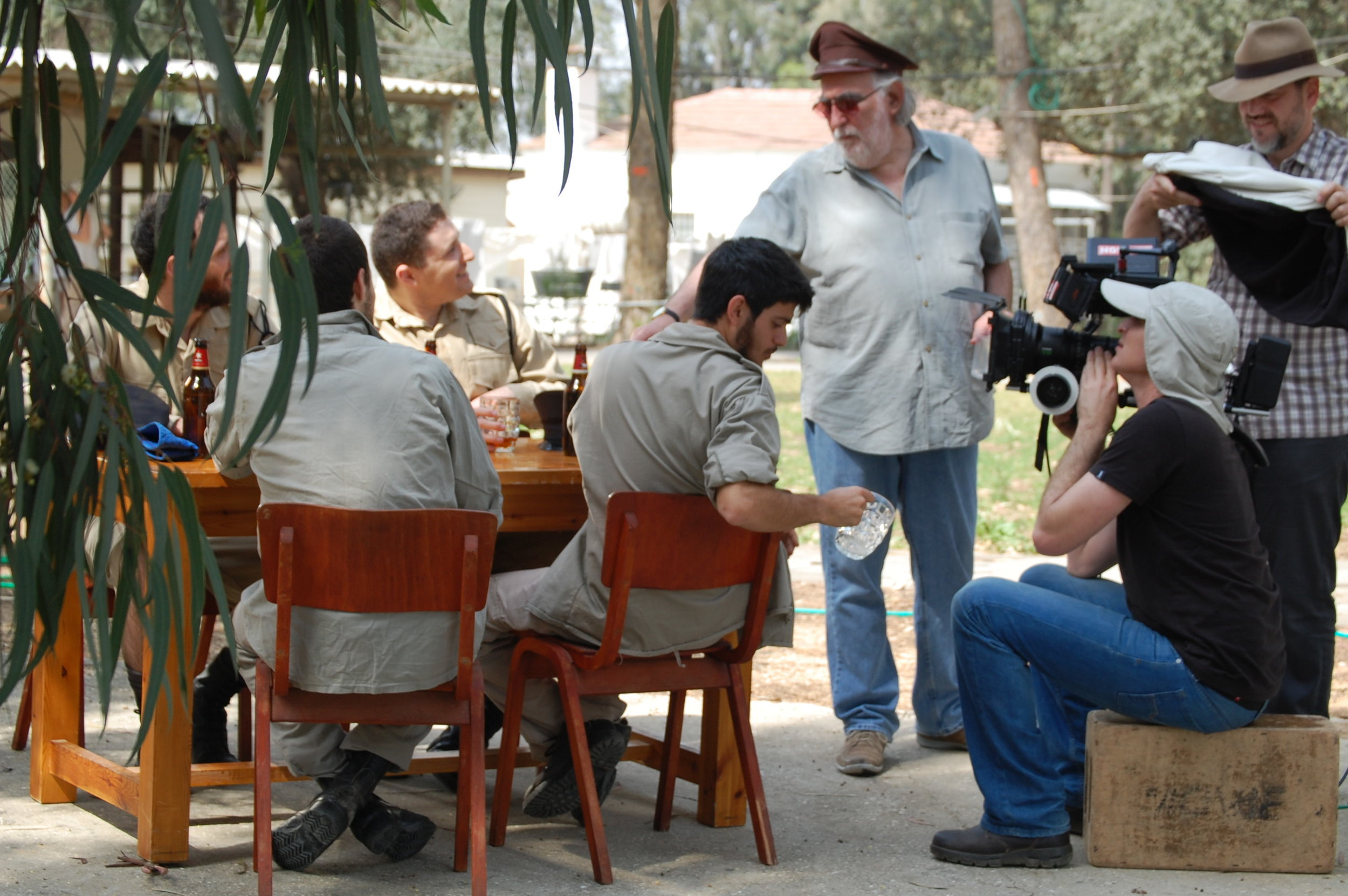 On set in Rehovet, Israel (March 2015)