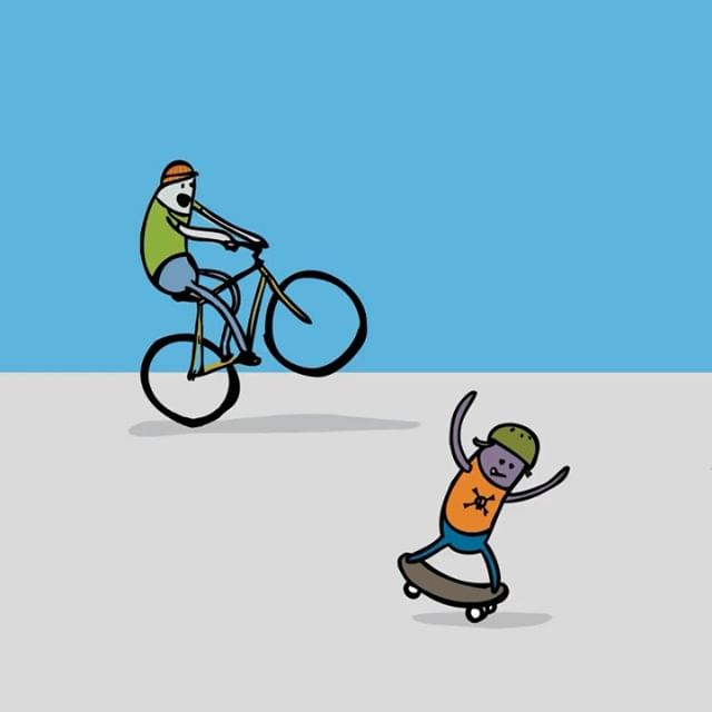 Revisited an old project I worked on at @secretpenguin and made a few loops out of them. Incredible illustrations by Dave Nelson. This was a great project and fun way to promote healthy activity. More things like Open Streets please! #animation #motiongraphics #dribbble #design #illustration #cycling #bike #skateboarding #mograph #motiondesign #motiongraphicscollective #aftereffects #illustrator #tbt