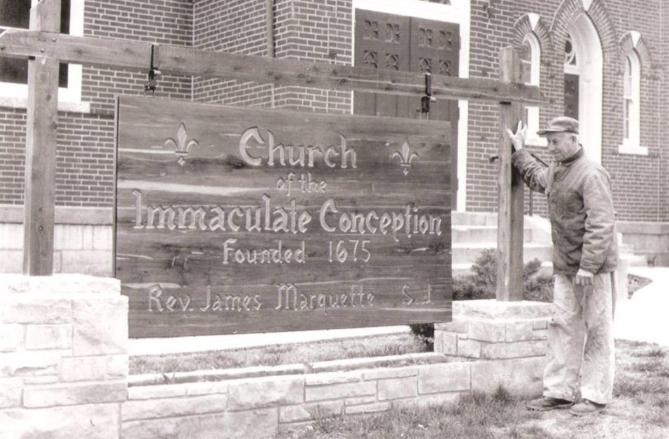 Geri's Uncle, Charles 'Lonnie' Cassoutt, was the custodian of the Kaskaskia Bell Memorial and Immaculate Conception Church on Kaskaskia Island.