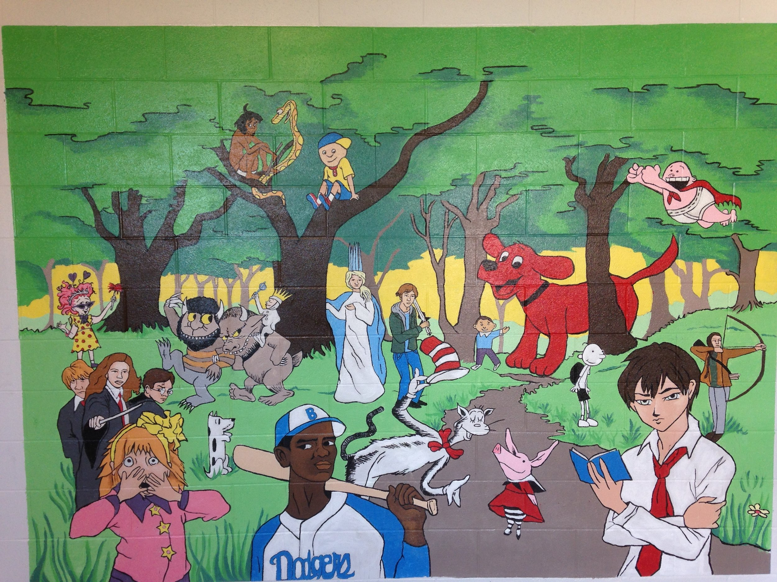Mural created with students in grades 3-4 at Coral Ridge Elementary