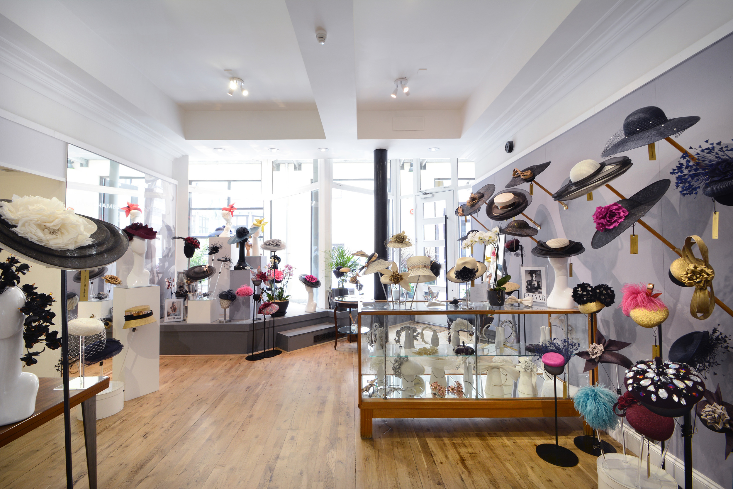 William Chambers Millinery - our shop in Glasgow city centre.