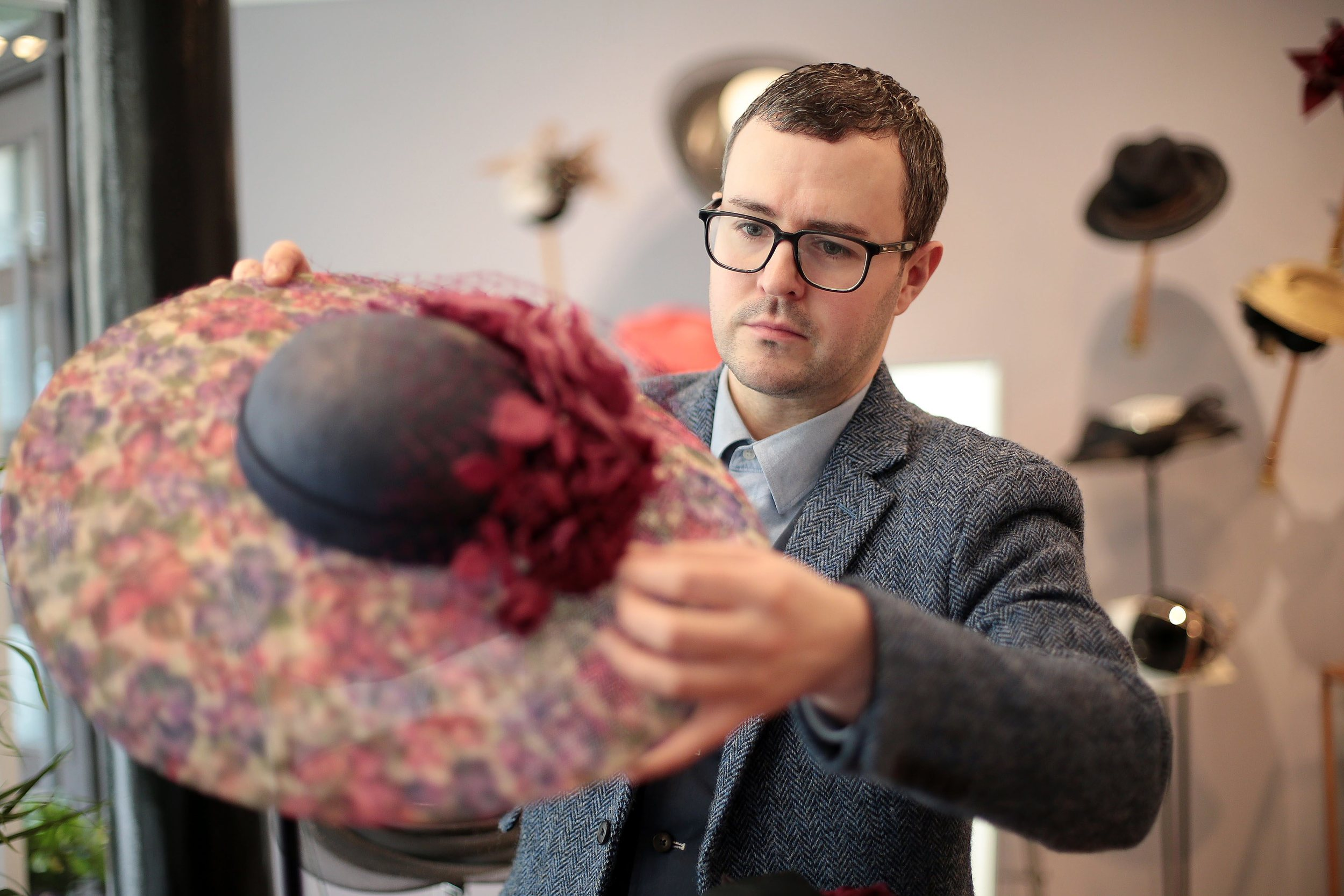 William in his Glasgow store. Photo courtesy of The Herald.
