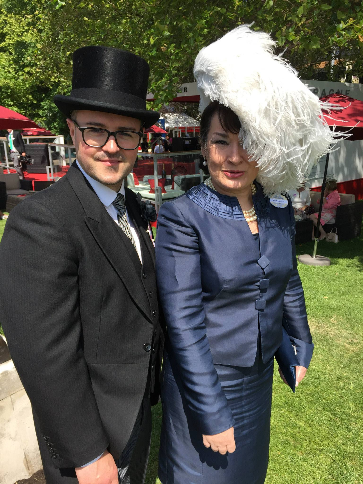 William with a happy customer, Royal Ascot 2015