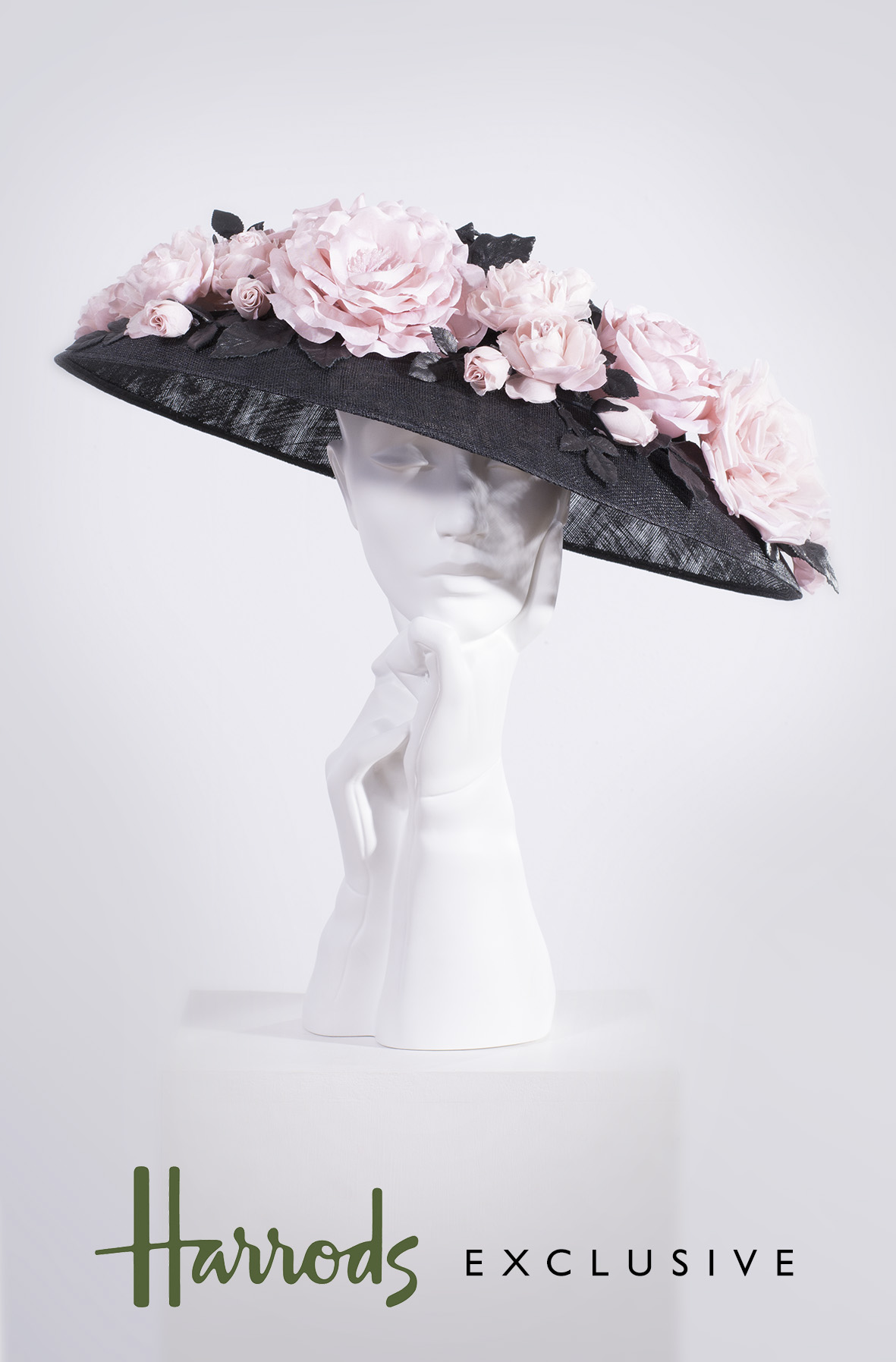 Super Floral Coolie in Black and Pink