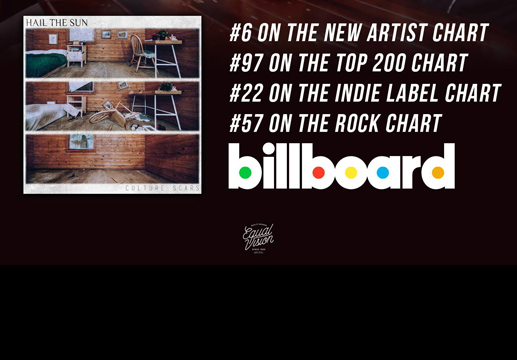 Copy of Hail The Sun hits #6 on Billboards New Artist chart!
