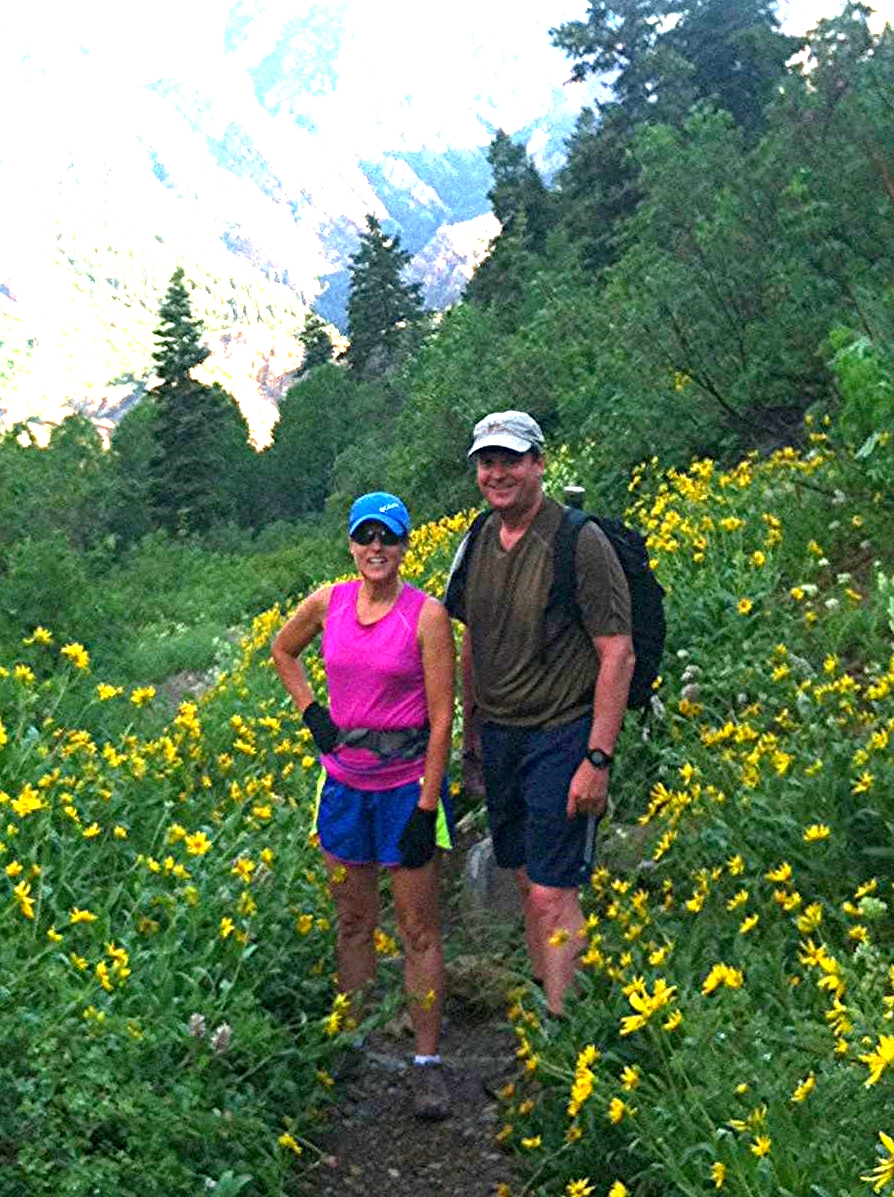 Hiking with my husband in Park City, Utah