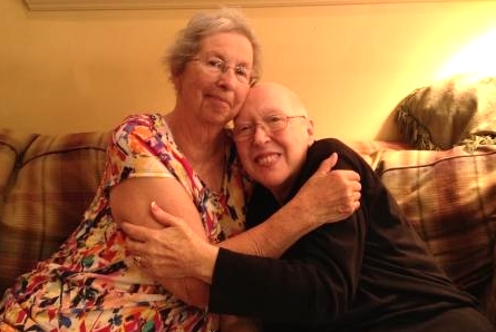 Charlotte and Pat - their final visit