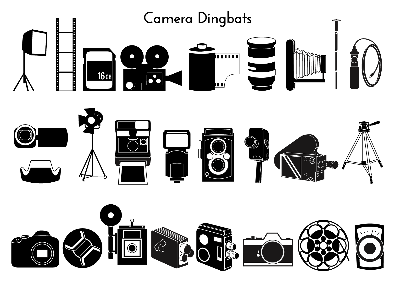 A camera dingbat family