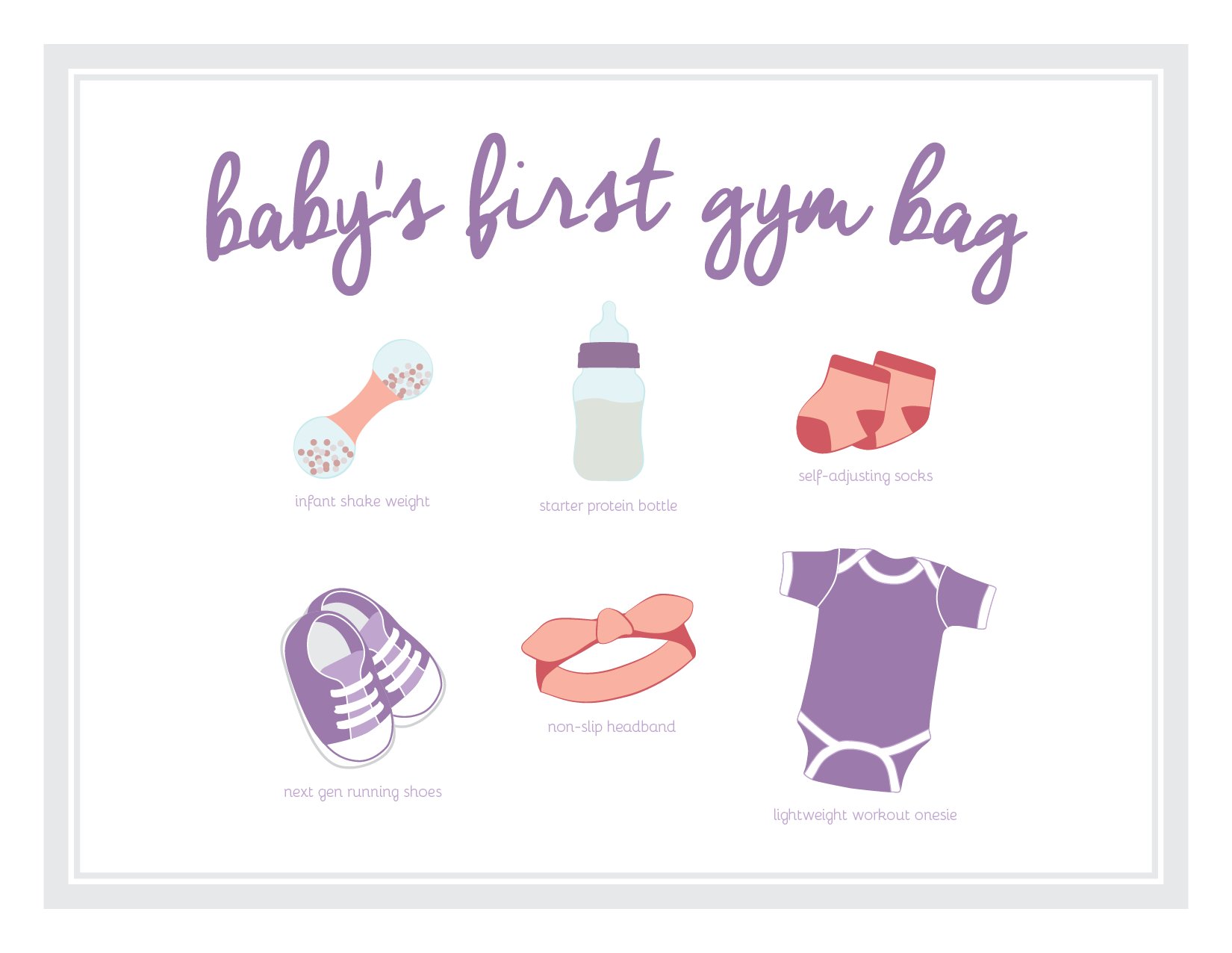 Baby shower card for a coworker at Designer Protein