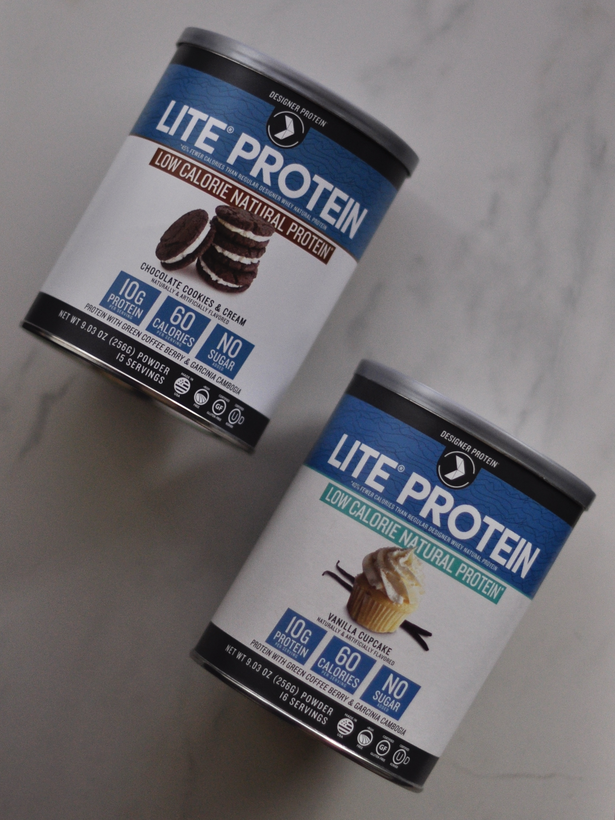 Lite Protein in Vanilla Cupcake and Chocolate Cookies & Cream