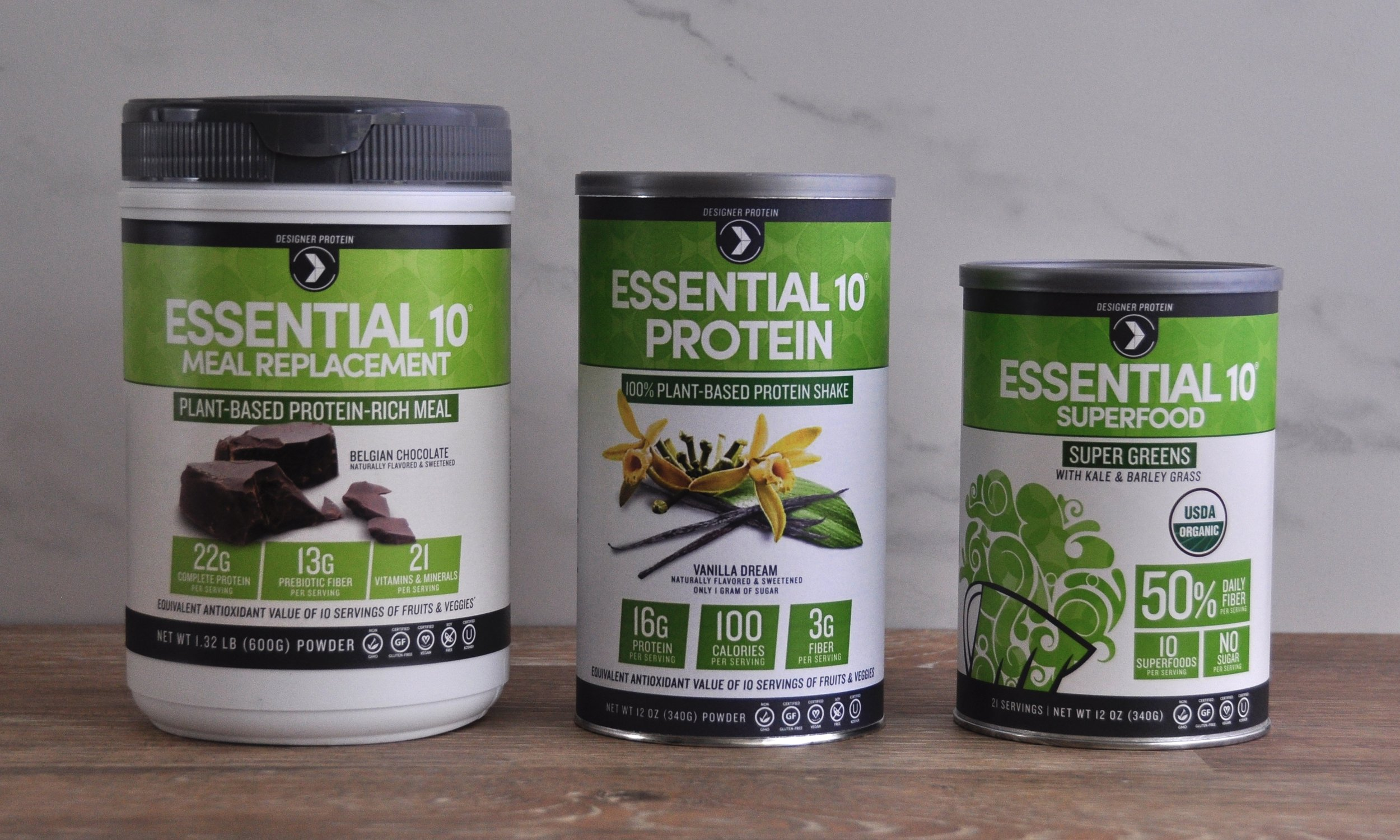 Essential 10 family - collaborated on front panel design, in charge of designing back and nutritional panel layouts.