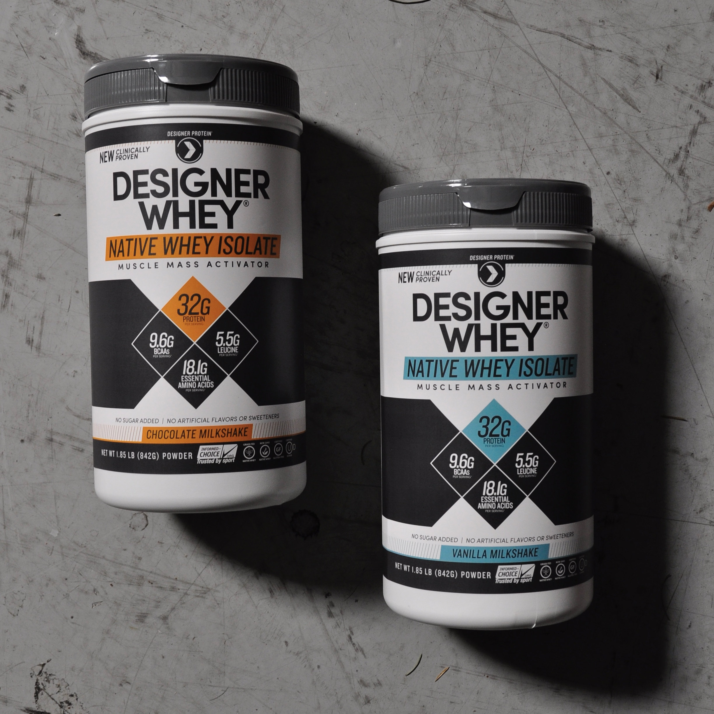 Designer Whey Native Whey Isolate -collaborated on overall label design, developed graphs on back panel.