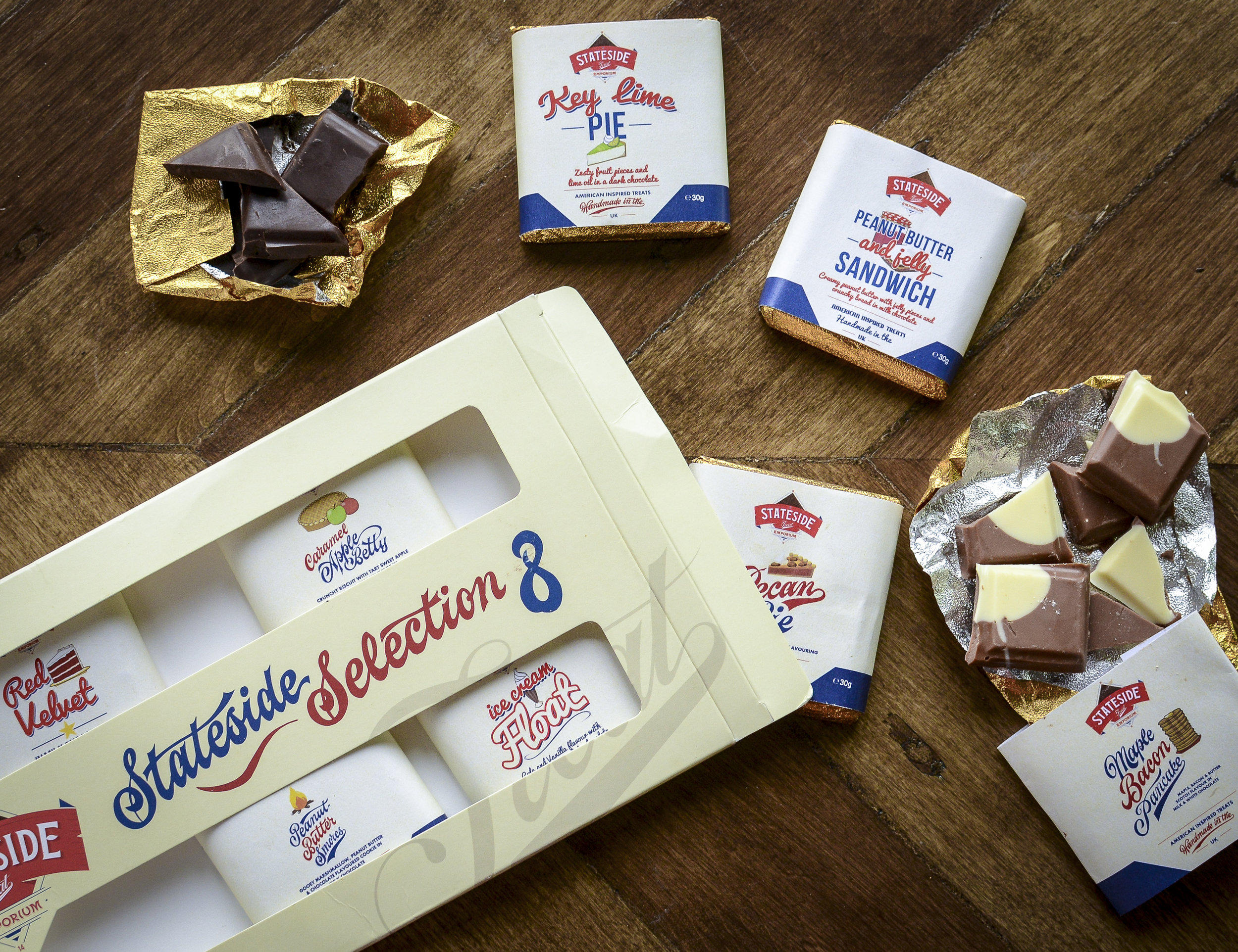 American Inspired Chocolate Bars