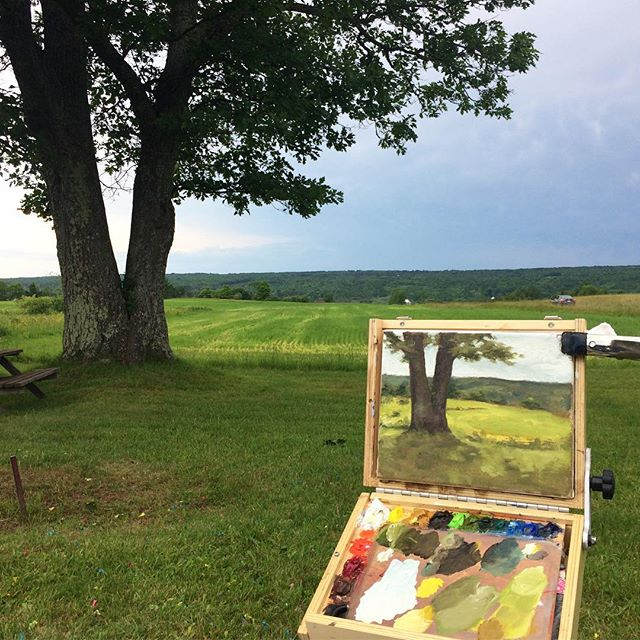Painted the old oak tree on the family farm. #landscape #michigan #theupperpeninsula #daup #lakelinden
