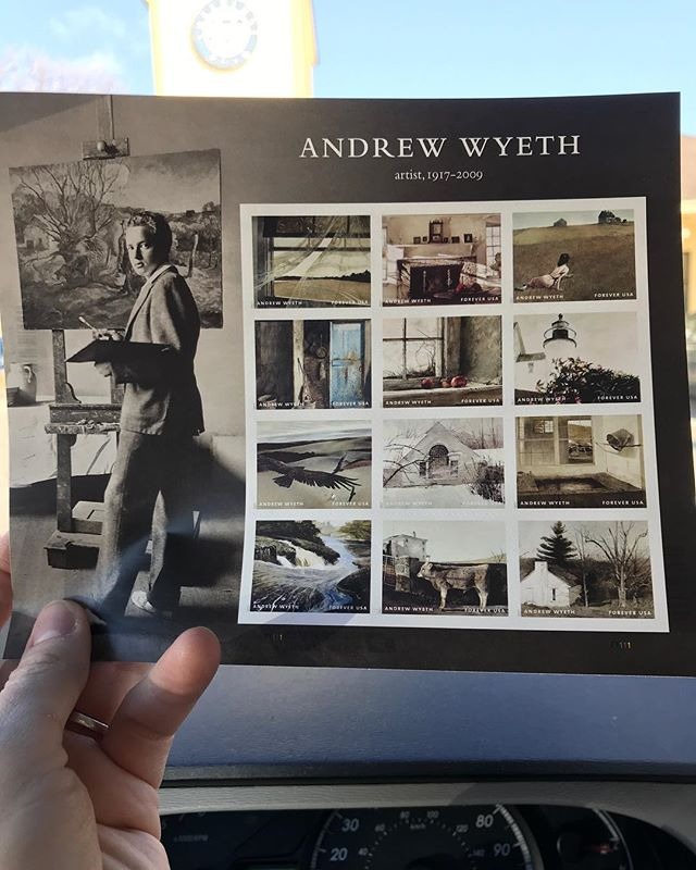 Sometimes you gotta get stamps, pretty cool when they have great artists on them! #andrewwyeth