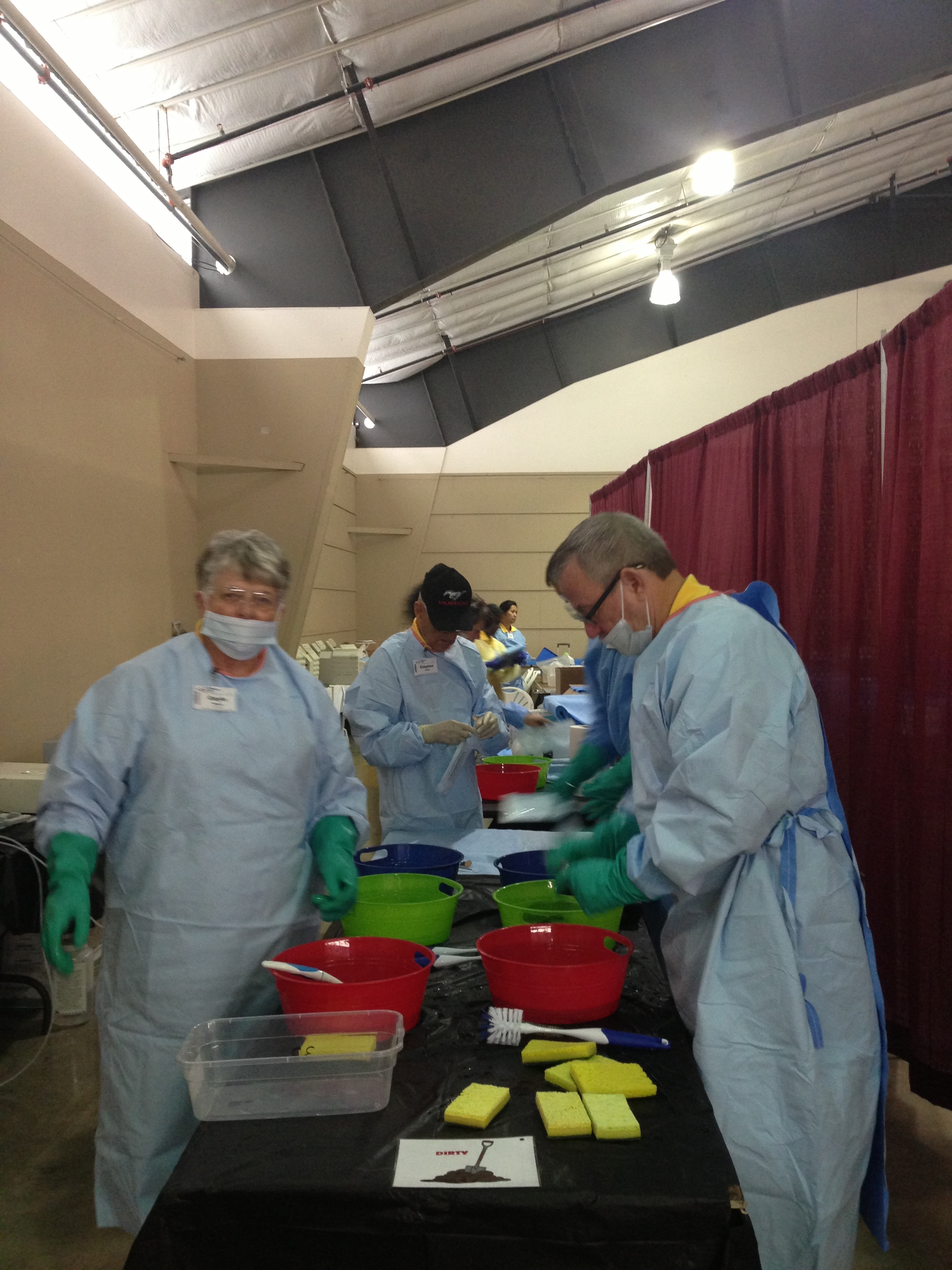 Cleaning station at Pathways to Health 2015