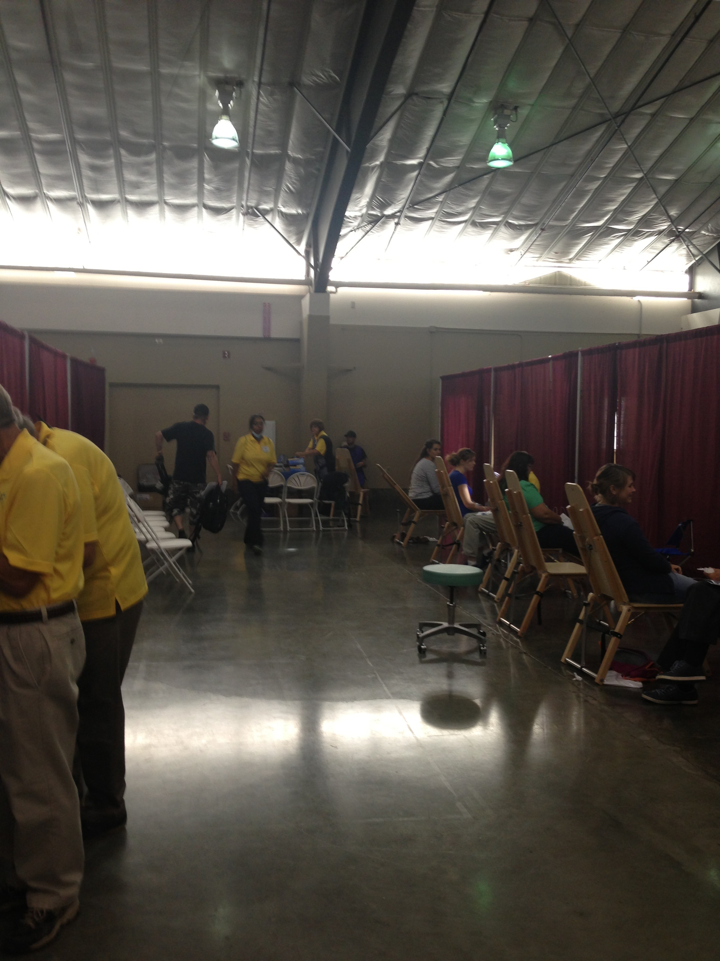 Dental x-ray stations at Pathways to Health 2015.