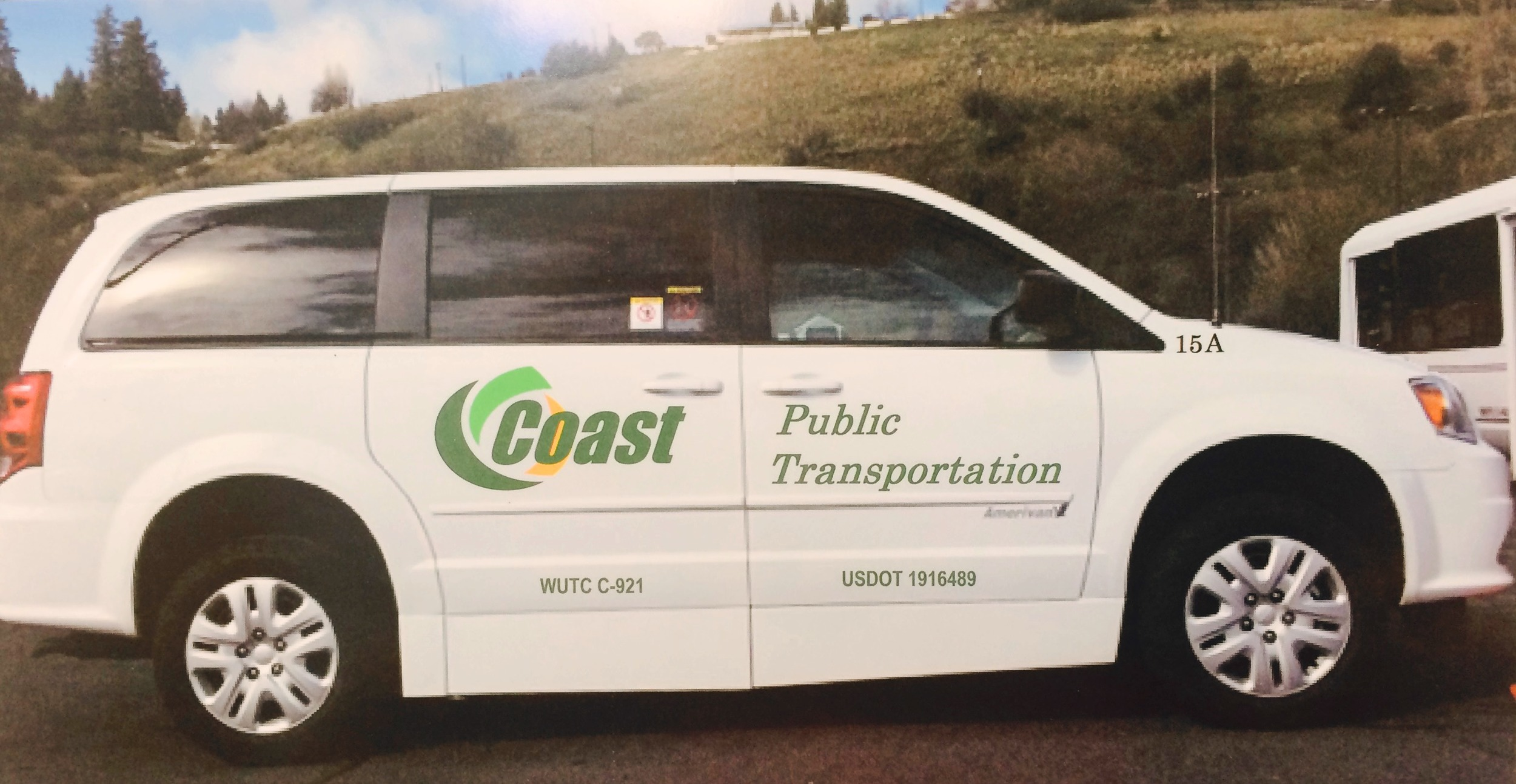 New COAST van purchased by Council on Aging and Human Services through a combination of support from the Washington State Department of Transportation and a grant from EHF's Rural Aging Services Initiative.