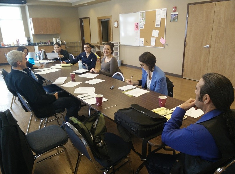 February 2015 meeting with Spokane Tribe Health & Human Services and EHF Rural Aging Team, facilitated by strategic consultant.