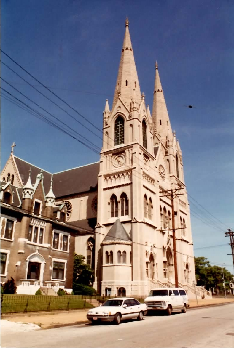 Here is Most Holy Trinity as it appears today, its steeples standing tall and proud in its historic St. Louis neighborhood