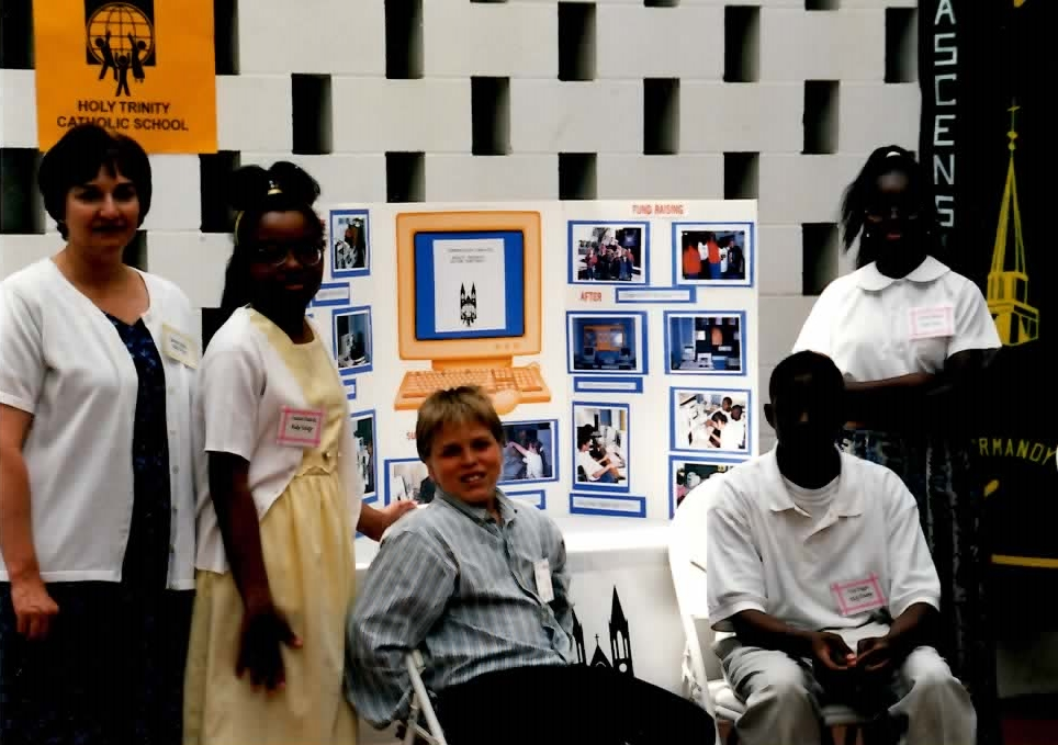 Students at Most Holy Trinity participating in a science fair