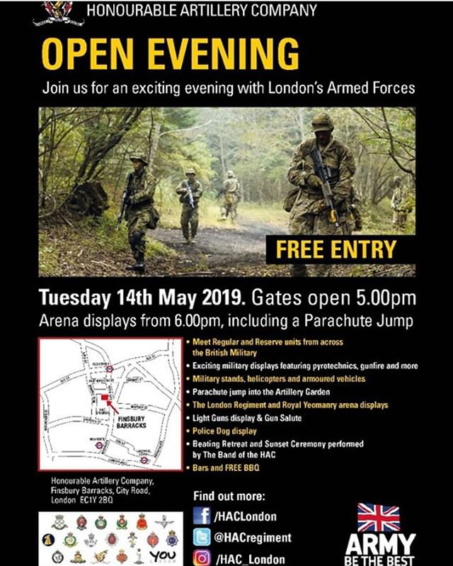 HAC Open Evening Tuesday 14th May