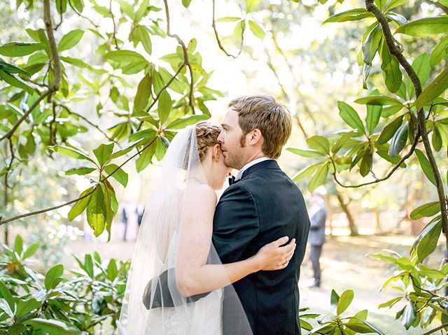 Virginia and David catching a few stolen moments behind the magnolia tree before the reception ♡ I love being able to capture sweet memories like this for my couples!