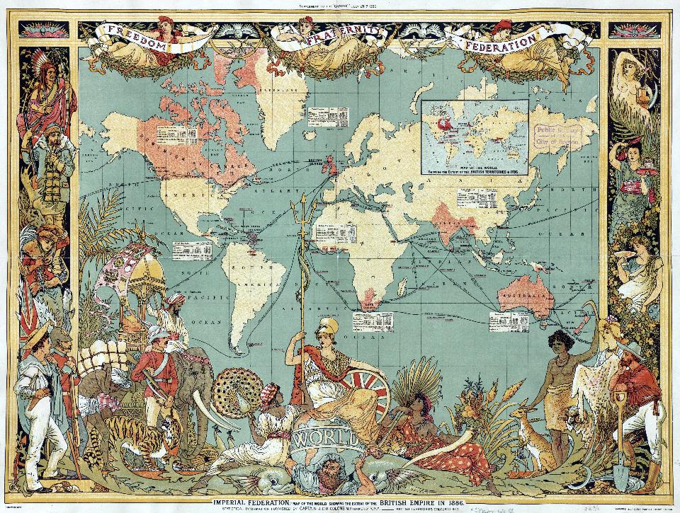 The British Empire map around 1880