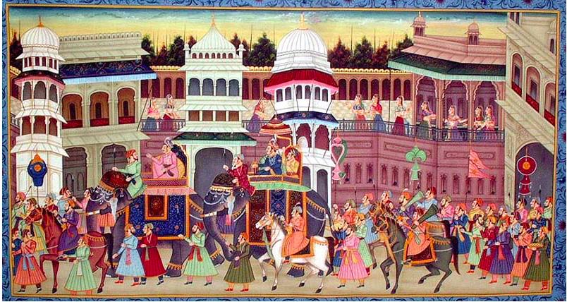 Depiction of a Mogul Procession