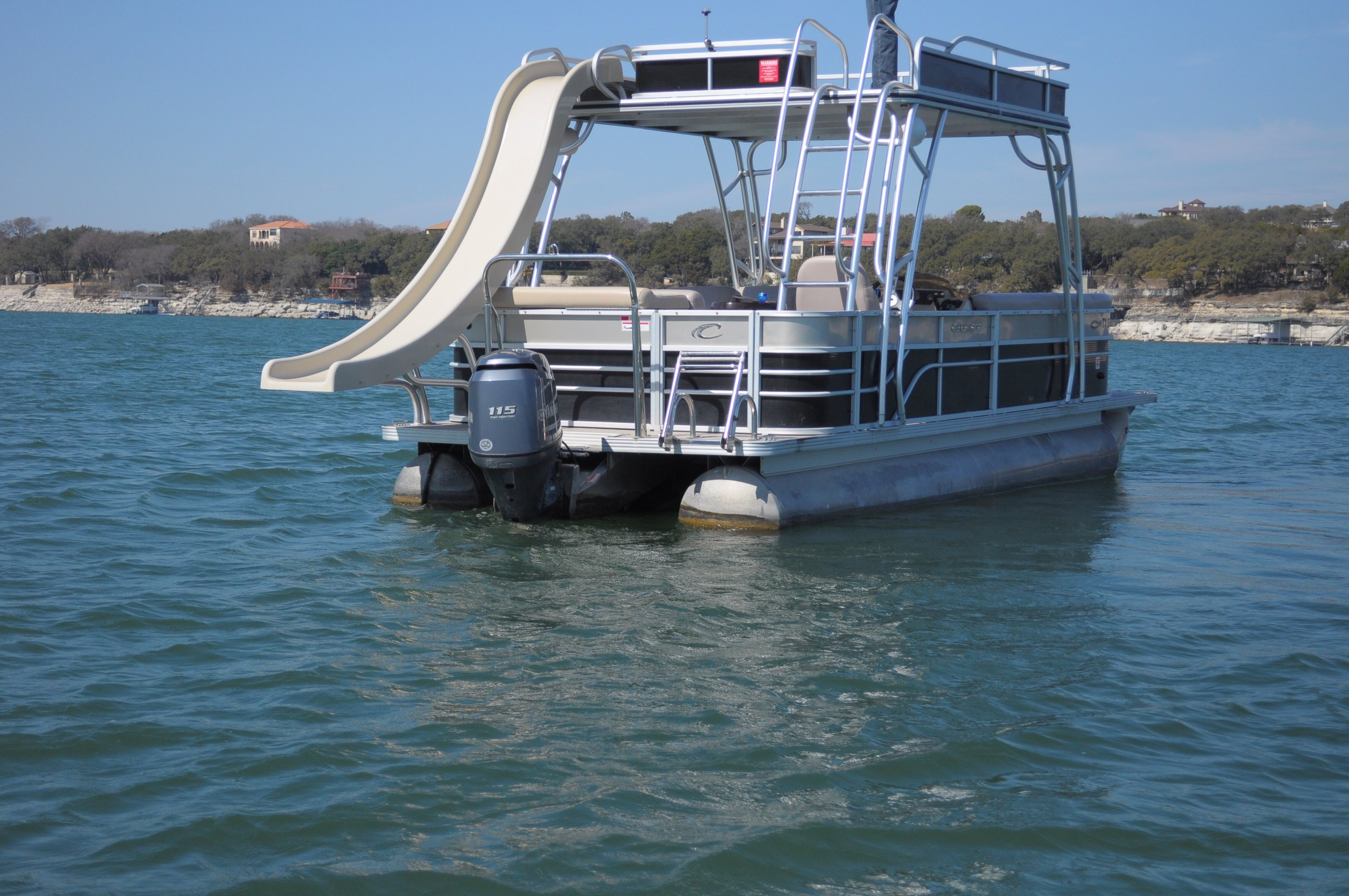 Boat with slide