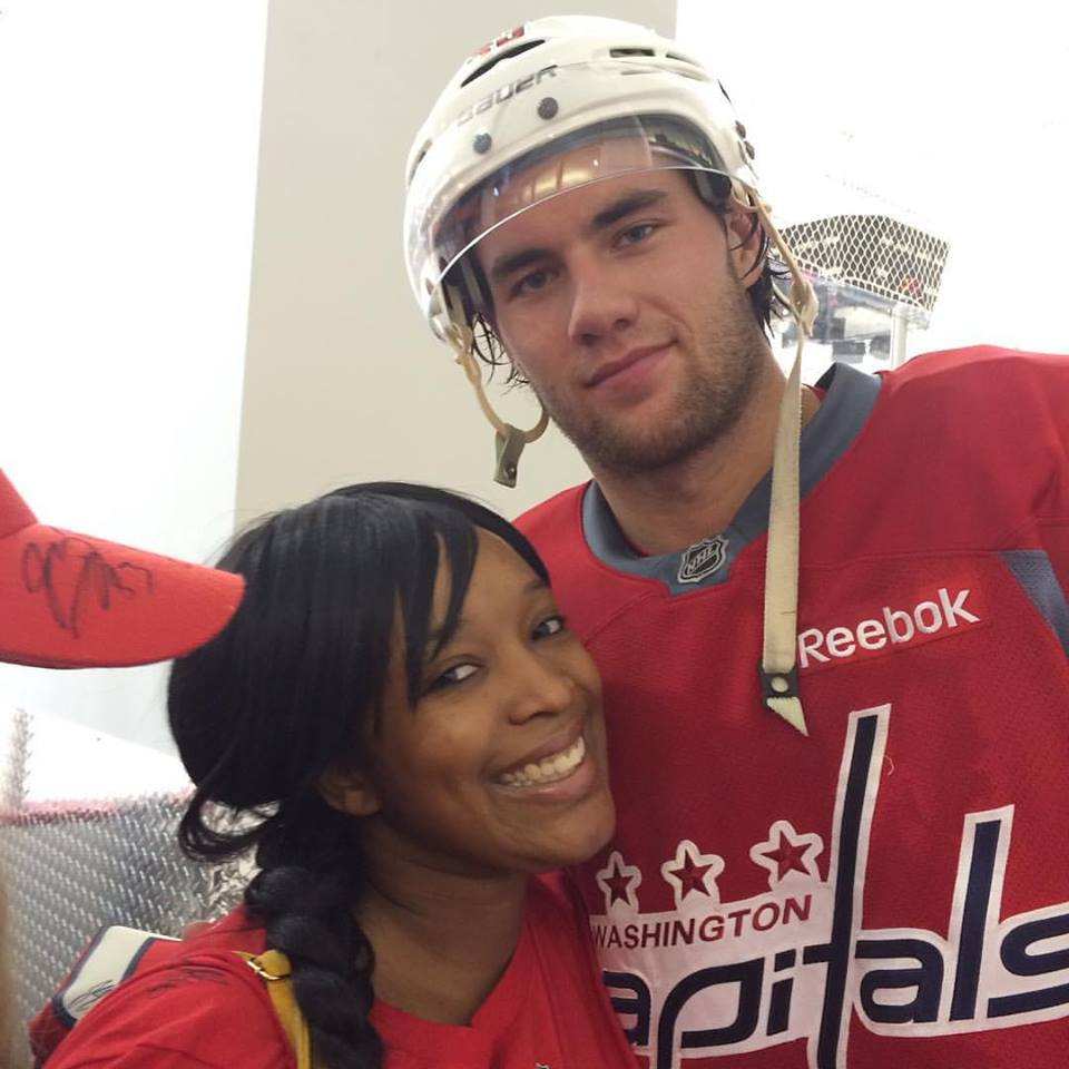 Fatou and  her new fiance! !! Just Kidding it's Washington Capitals' Tom Wilson, Fatou's fav Canadian.