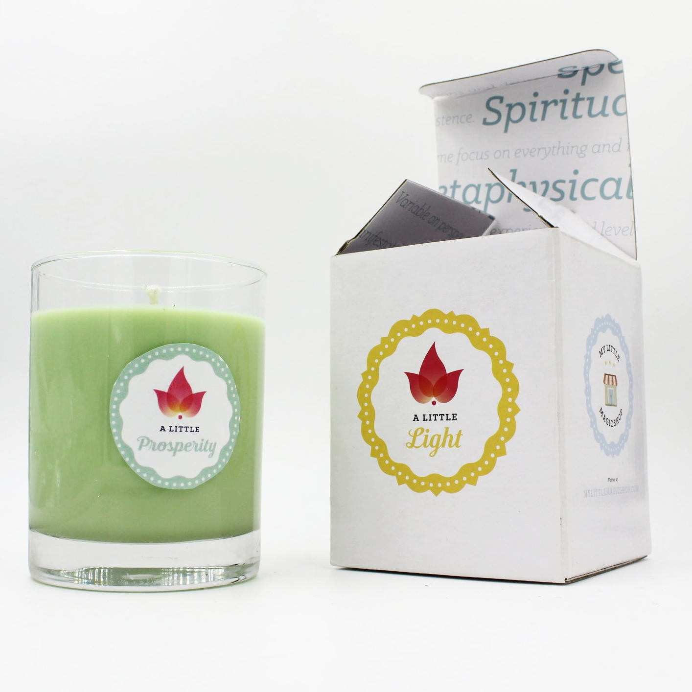 A Little Light Candle Series    These soy candles are guaranteed to overwhelm your senses.  They are handmade with the best soy wax and organic fragrance.