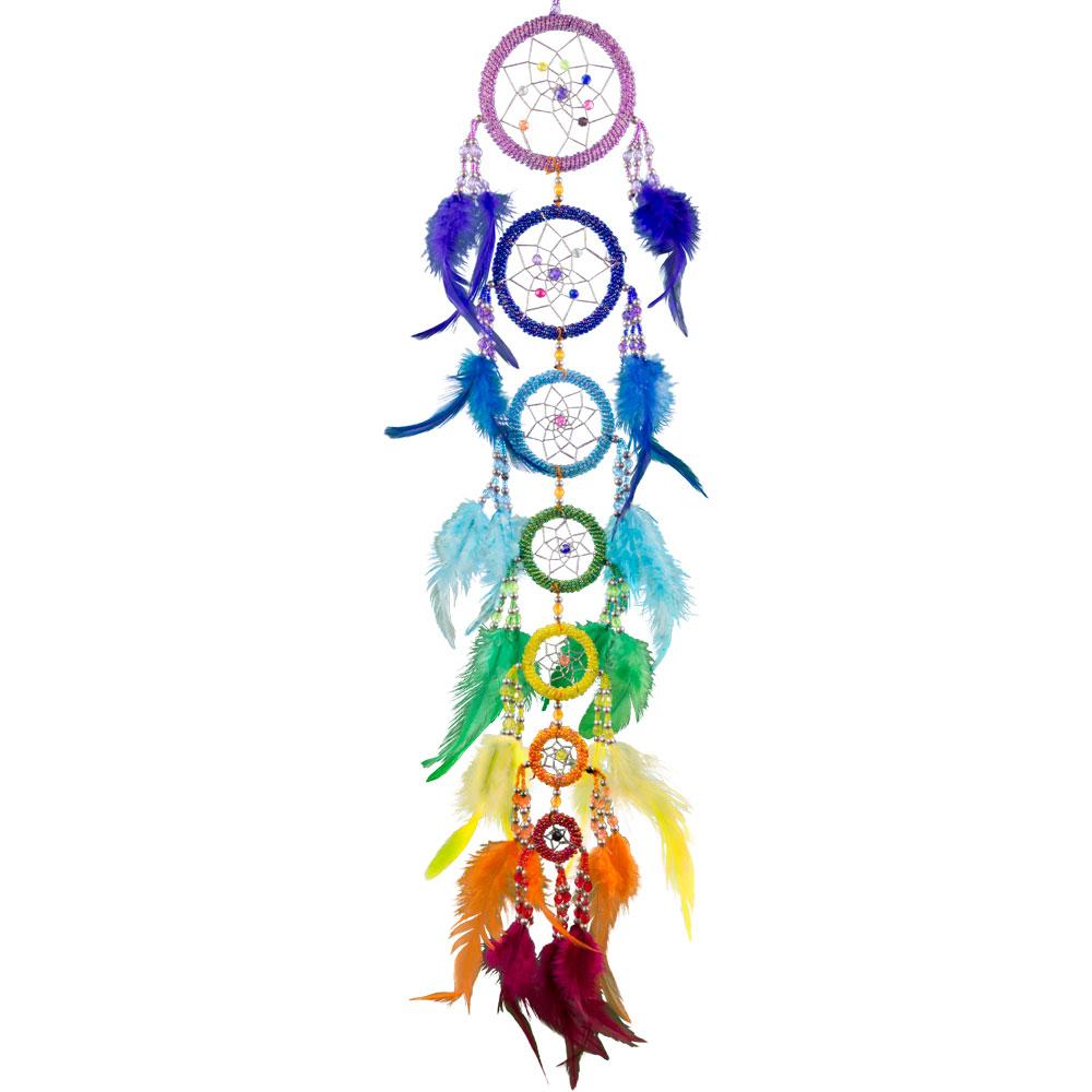 35 cm Multicolore Arc-en-Chaîne Tassel Dream Catcher Sept Chakras