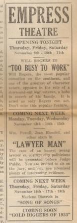 Gazette - 1933