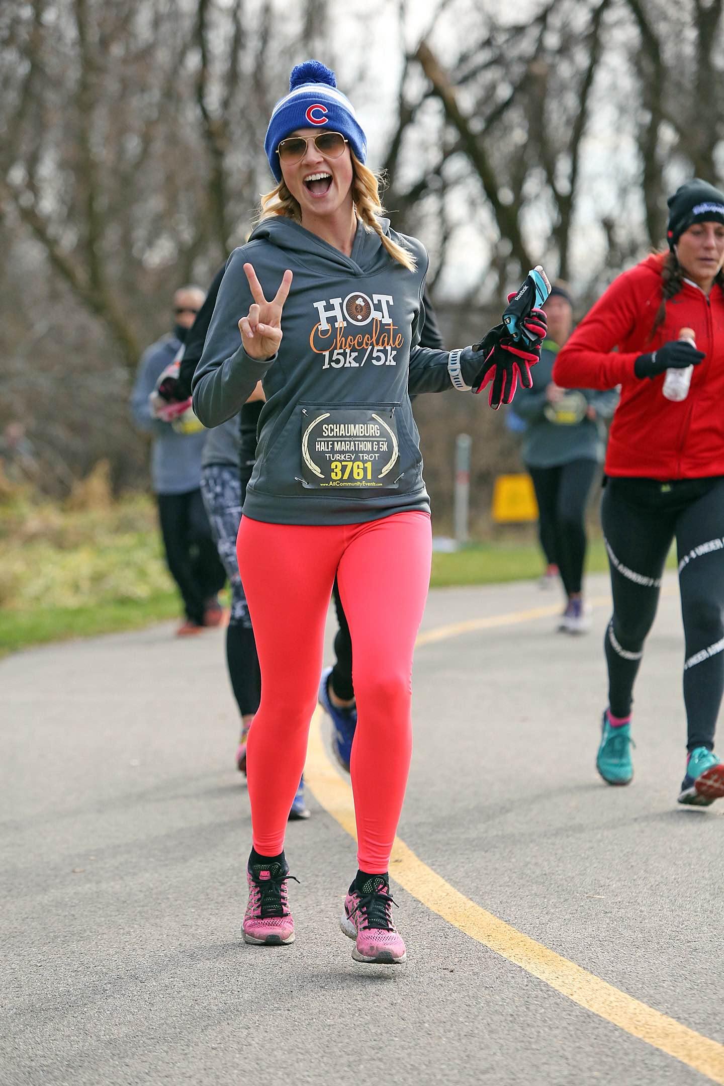 Stevie running a Turkey Trot 1/2 Marathon!!🦃🦃🦃😍