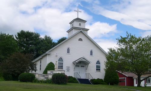 Our Lady of Fatima Church    Summer: Vigil Mass:Sat. 6   pm   21 Creek Road  Craftsbury VT 05826  Phone:(802) 472-5544 Email: Mary_queenofallsaints @comcast.net