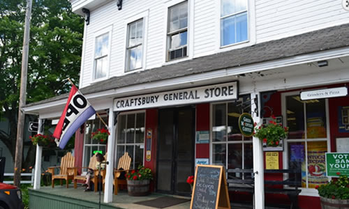 Craftsbury General Store    Deli, pizza & store    Open 7 am-8 pm Tues.-Sat. & 7 am-7 pm Mon & Sun. 118 South Craftsbury Road  Craftsbury VT 05826 Phone: (802) 586-2440