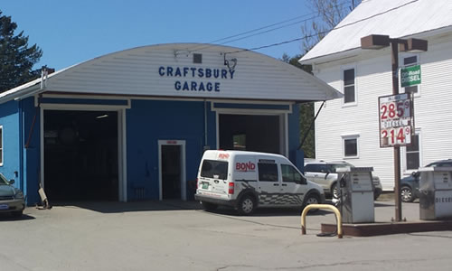 Craftsbury Garage   Gas pumps, repairs & vehicle sales  South Craftsbury Road  Craftsbury  VT 05826  Phone: (802) 586-2511