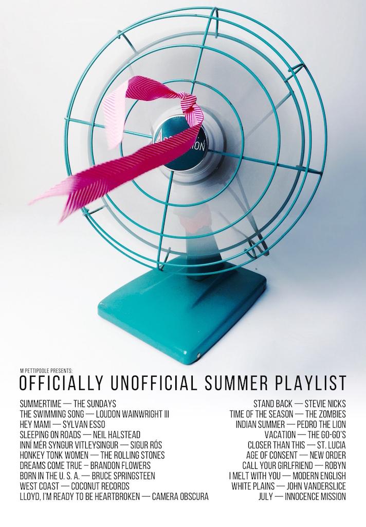 Summertime Playlist – M Pettipoole