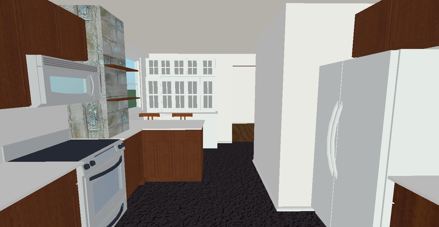 M Pettipoole – Mayberry Rental Kitchen Option 1 Rendering