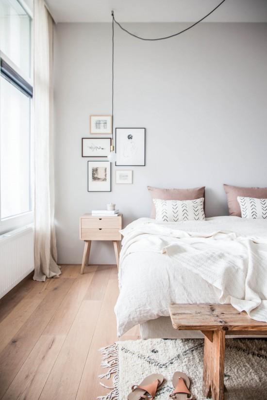Soft Pink Cozy Bedroom