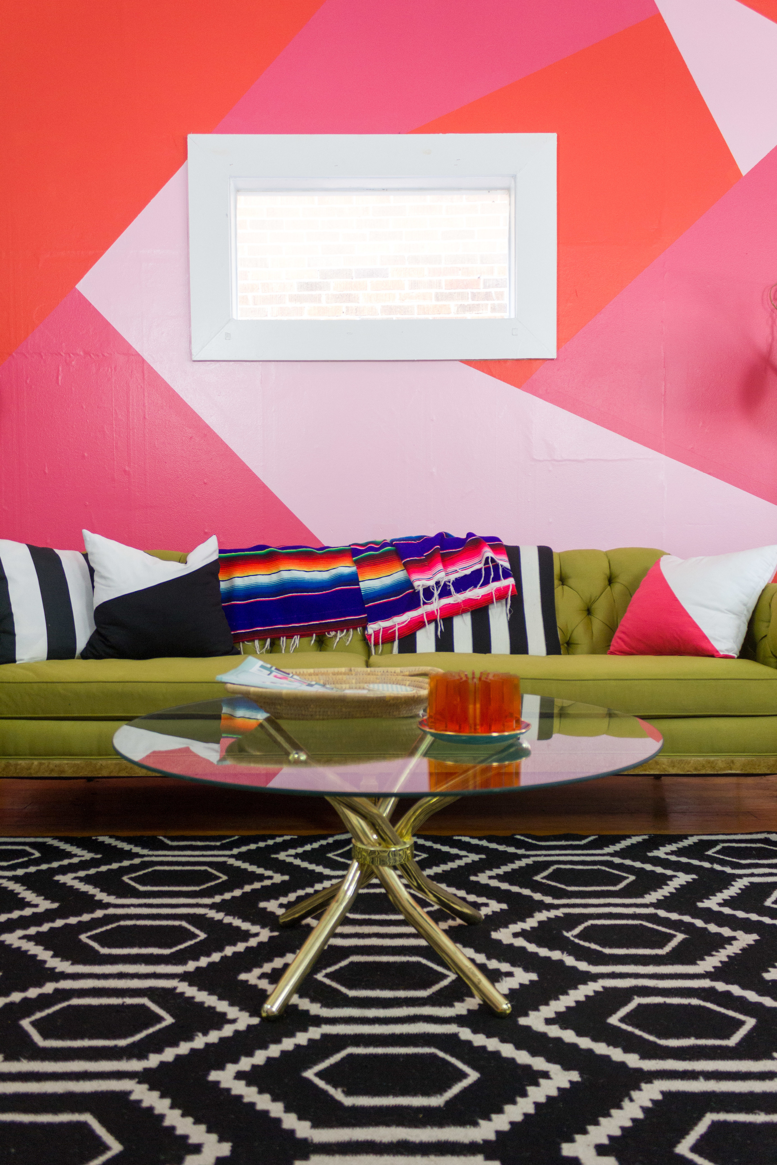 M Pettipoole – Pink Bohemian Living Room Accent Wall