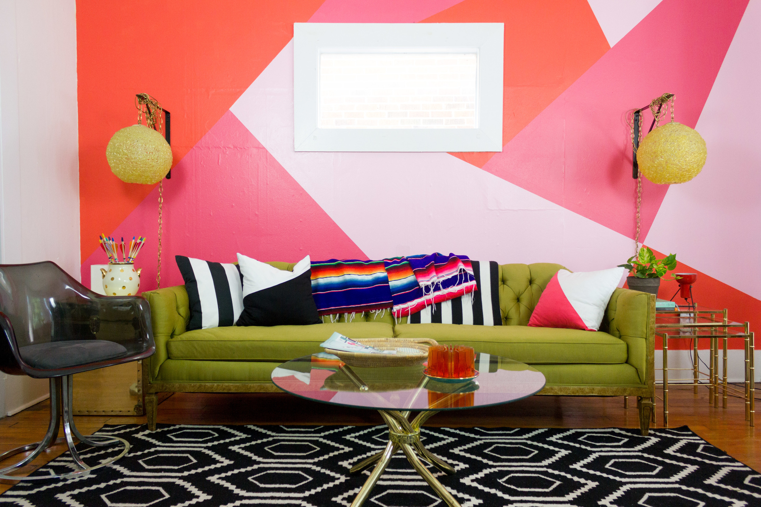 M Pettipoole – Pink Living Room Accent Wall
