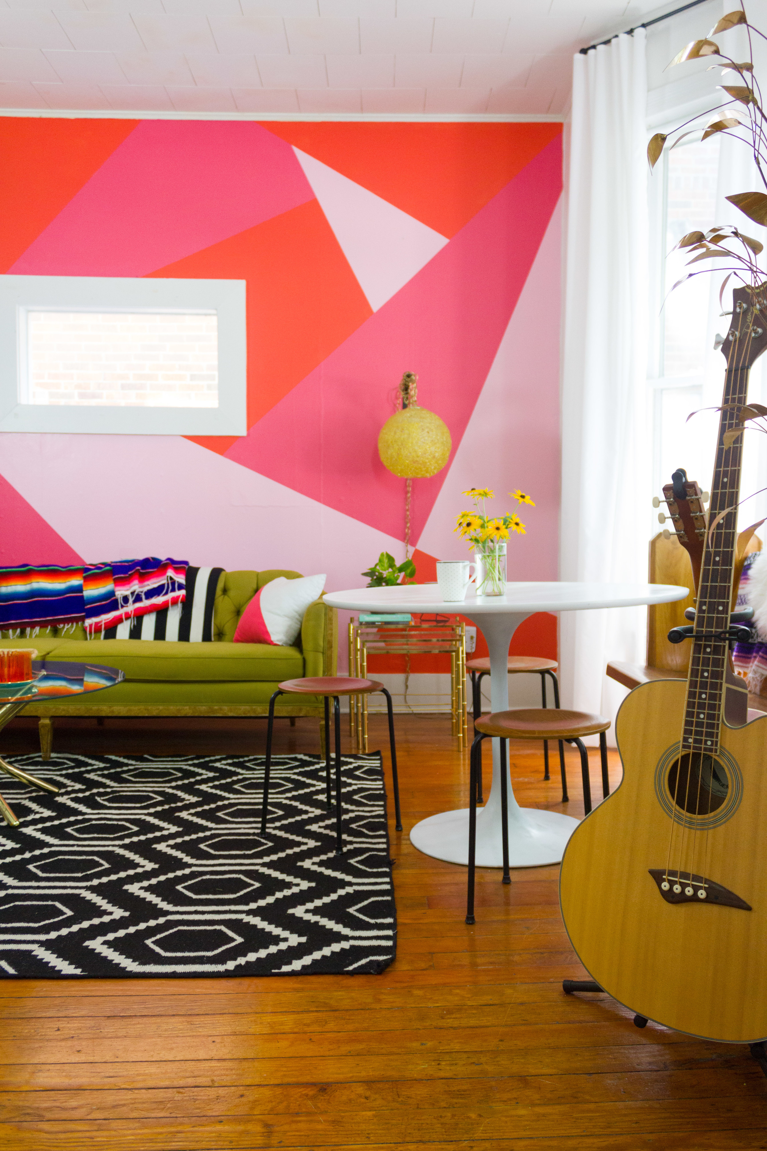 M Pettipoole – Pink Bohemian Living Room