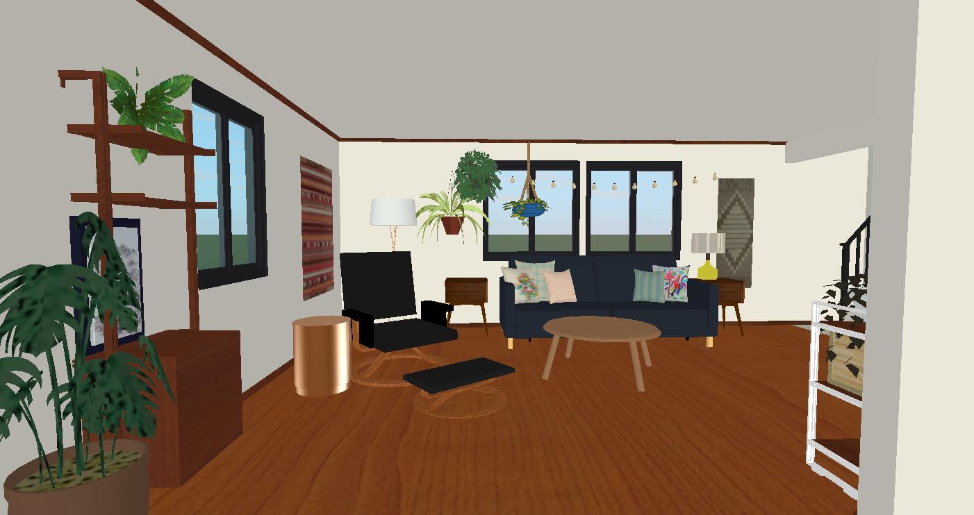 Daria's Bohemian Living Room Rendering – M Pettipoole