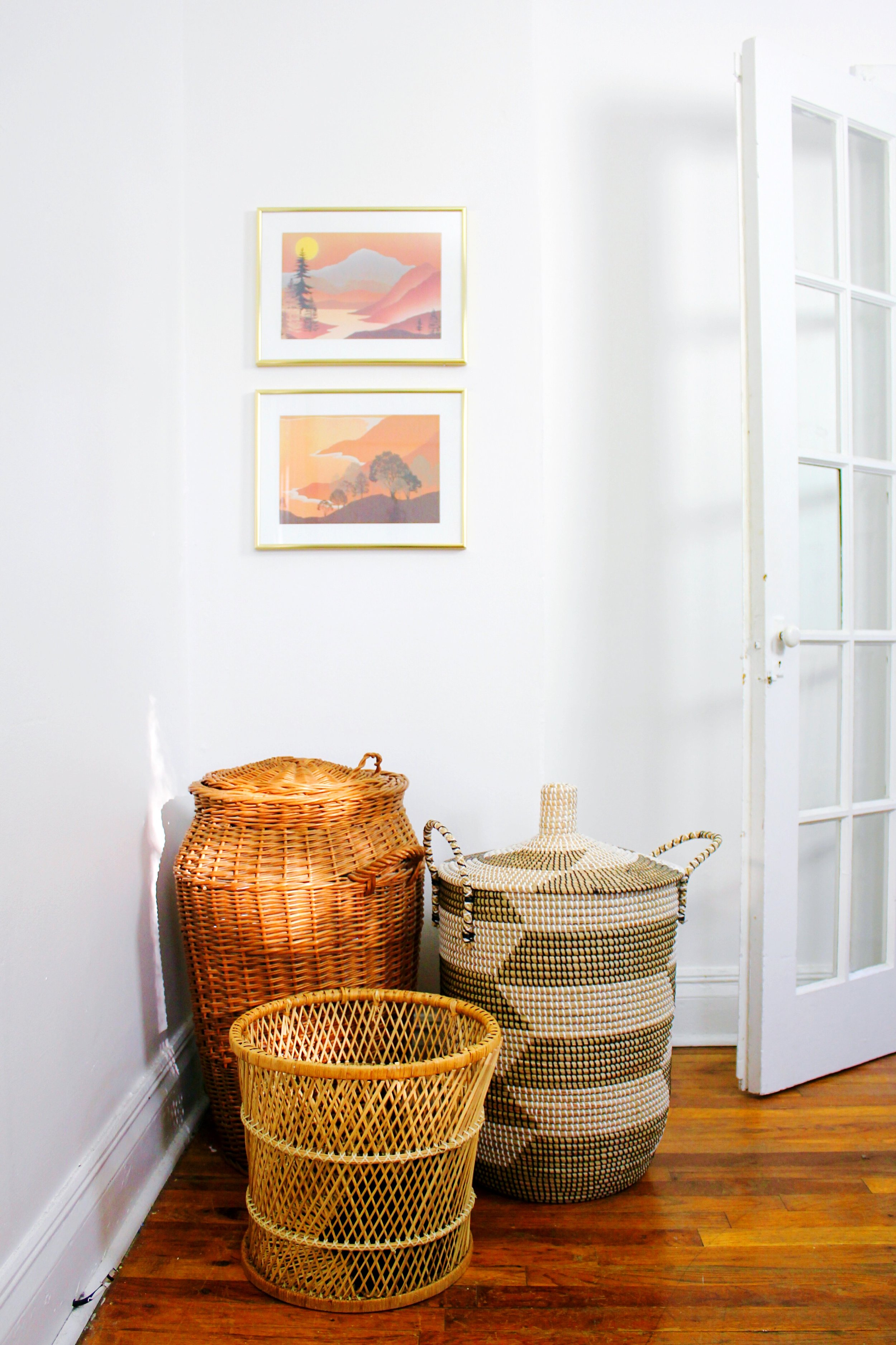80s Thrift Store Art and Baskets