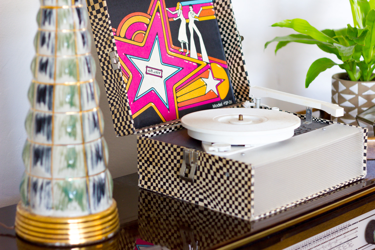 Colorful Vintage Record Player