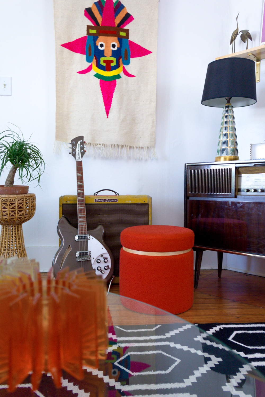 Colorful Living Room Vintage Wall Art
