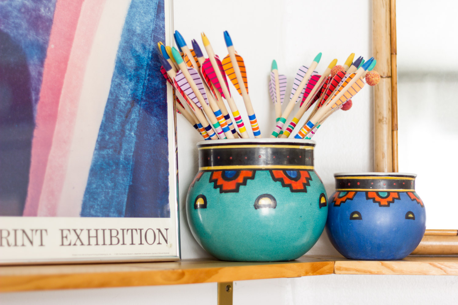 Colorful vintage pottery